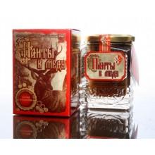 Панты в меду с кусочками губчатого вещества 250 гр
