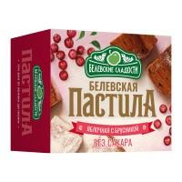 Белёвская пастила яблочная без сахара с брусникой 125 г