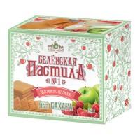 Белёвская пастила яблочная без сахара с малиной 125 г