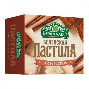 Белёвская пастила яблочная без сахара с корицей 125 г