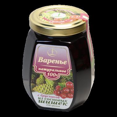 Варенье из сосновых шишек с брусникой 250 г (Емельяновская Биофабрика)