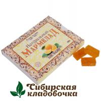 Мармелад натуральный С кусочками апельсина без сахара (Русские традиции) 160 гр