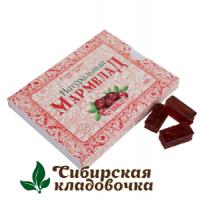 Мармелад натуральный С кусочками клюквы без сахара (Русские традиции) 160 гр
