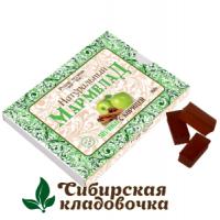 Мармелад натуральный С кусочками яблока без сахара (Русские традиции) 160 гр