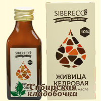 Живица кедровая 10% на кедровом масле (Сибирьэко) 95 мл