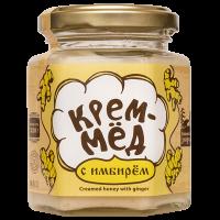 Крем-мёд с имбирем 220 г Сибирский знахарь