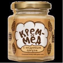 Крем-мёд с кедровым орехом 220 г Сибирский знахарь