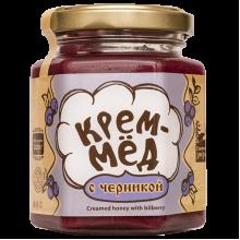 Крем-мёд с черникой 220 г Сибирский знахарь
