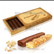 Кедровые палочки 190 гр Конфеты с грильяжным корпусом в шоколадной глазури
