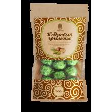 Кедровый грильяж с сосновой шишкой в шоколадной глазури 200 гр крафт-пакет