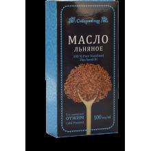 Масло льняное Сибирский кедр 100мл из льна черного