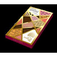 Молочный шоколад с фундуком и клюквой (Сибирский кедр) 100 гр