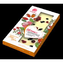Цветной шоколад с шиповником и клюквой (Сибирский кедр) 100 гр