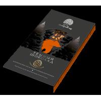 Шоколад темный с апельсином, корицей и кедровым орехом (Сибирский кедр) 40 гр.