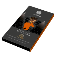 Шоколад темный с апельсином корицей и кедровым орехом Сибирский кедр 100 гр