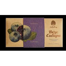 Темный шоколад Вкус Сибири с черникой