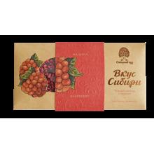 Темный шоколад Вкус Сибири с малиной