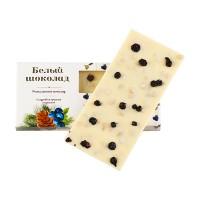 Шоколад белый с кедровым орехом и черникой Солнечная Сибирь 100 гр