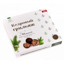 Кедровый грильяж с сосновой шишкой в натур шоколаде Солнечная Сибирь 120 гр
