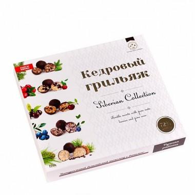 Кедровый грильяж ассорти в натур шоколаде Солнечная Сибирь 120 гр