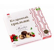 Кедровый грильяж с клюквой в натур шоколаде Солнечная Сибирь 120 гр