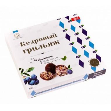 Кедровый грильяж с черникой в натур шоколаде Солнечная Сибирь 120 гр