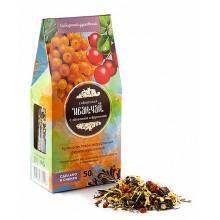 Иван-чай с облепихой и брусникой картон-домик (Солнечная Сибирь) 50 гр