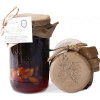 Варенье из сосновой шишки с орехами 50 50% грецкий орех фундук миндаль Таёжный тайник 420 гр