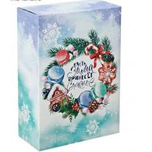 Коробка складная  Пусть Зима принесет Счастье  16 5 × 26 × 16 5 см