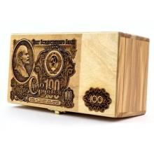 Сувенирная шкатулка 100 рублей