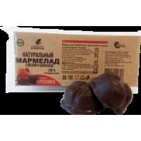 Мармелад в подложке в шоколаде Брусника с мёдом 54 гр
