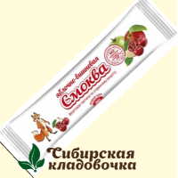 Смоква Яблочно-вишневая БЕЗ САХАРА (Эко пастила), 15 г