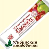 Смоква Яблочно-клубничная БЕЗ САХАРА (Эко пастила), 30 г